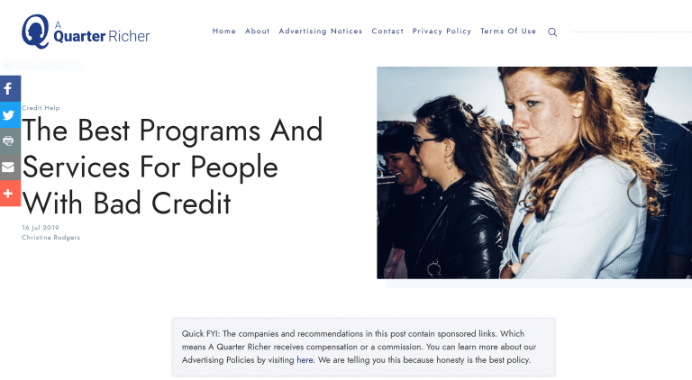 Bad Credit Programs
