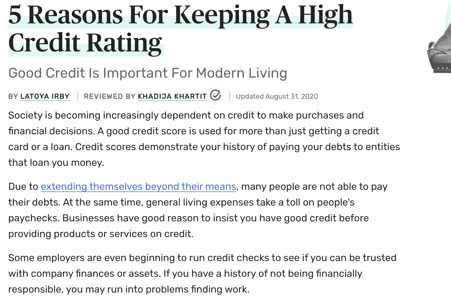 5 Reasons For Keeping A High Credit Rating